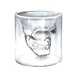 "4x Verre Alcool ""Tete Mort"" Head Shot Skull Crystal Glass Crane Cristal Coupe vodka verrerie"