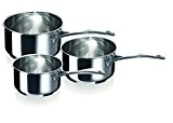 Bekaline 12066974 Chef Série de 3 Casseroles en acier Inoxydable 16/20 cm
