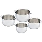 Bekaline 13606984 Select Série de 4 casseroles en acier inoxydable 14/20 cm sans poignée
