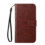 Cozy Hut Samsung Galaxy S4 PU Housse,Slim-Fit Folio Smart Cuir Portefeuille Case Coque Etui pour Samsung Galaxy S4,Fleur de papillon ...