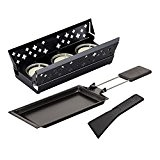 Kuhn Rikon 32170 Candle Light Raclette Set Mini Aluminium Noir 20 x 9,5 x 5,5 cm