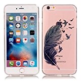 MIQLT iPhone 6/6s Transparent Coque, slim Bumper en silicone protection en TPU Cristal transparent coque silicone gel pour Apple iPhone ...