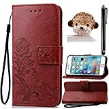Portefeuille Wallet Etui pour Huawei P8 Lite, Sunroyal® Premium PU Cuir Housse Coque Dragonne Book StyleCase Cover Swag TPU Silicone ...