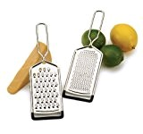 RSVP Set Of 2 Hand Held Cheese Graters Vegetable Shredding Stainless Steel New